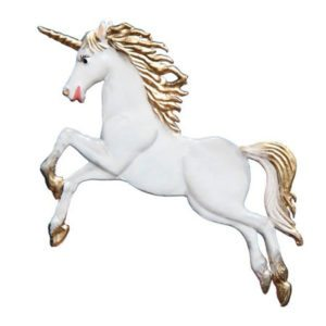 Unicorn - hanging pewter ornament