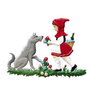 Little Red Riding Hood - hanging pewter ornament