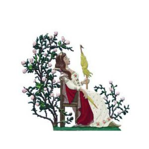 Sleeping Beauty - standing pewter ornament