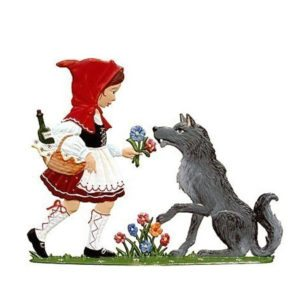 Little Red Riding Hood - standing pewter ornament