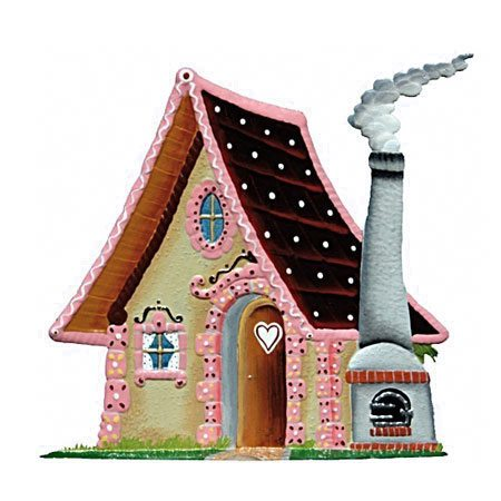 Witch's Cottage - standing pewter ornament