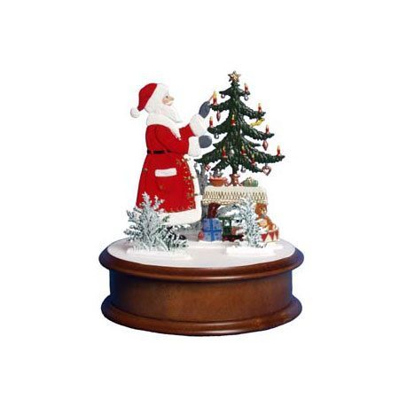 Santa with presents - music box