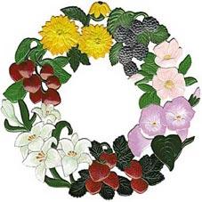 Blumenkränze Zinnbilder