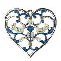 Hearts Pewter Ornaments