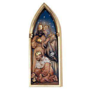 ANRI - 3Wise Men - Relief Nativity