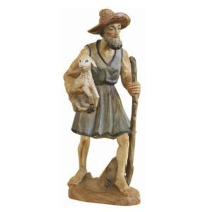 ANRI - Shepherd with lamb - Karl Kuolt nativity Linden wood