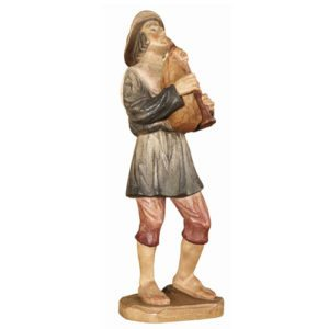 ANRI - Shepherd with bagpipe - Karl Kuolt nativity Linden wood