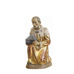 ANRI - Wise man Melchior - Karl Kuolt nativity Linden wood