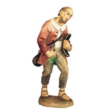 ANRI - Shepherd with bottle - Karl Kuolt nativity Linden wood