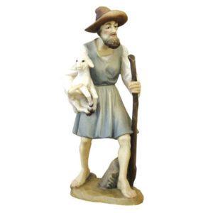ANRI - Shepherd with cane and lamb - Karl Kuolt nativity