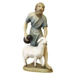 ANRI - Shepherd with bottle and sheep - Karl Kuolt nativity