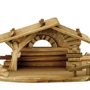 Family nativity barn