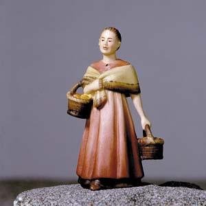 ANRI - Shepherdess with baskets - Vinzent nativity