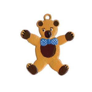 Teddy bear - hanging pewter ornament