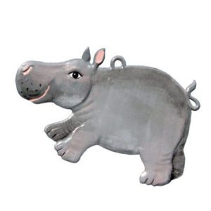 Hippo - hanging pewter ornament