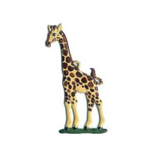 Giraffe - hanging pewter ornament