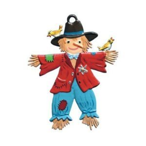 Scarecrow - hanging pewter ornament