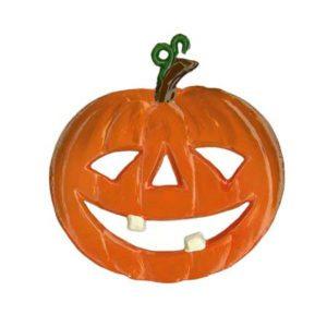 Halloween Pumpkin - hanging pewter ornament