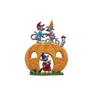 Mice Halloween - standing pewter ornament