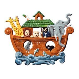 Noah's Ark - hanging pewter ornament